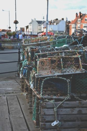 Fishing pots in Whitby bay