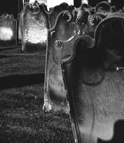 Gothic feels with grave stones in a Whitby cemetary